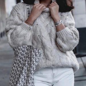 Mango Braided Knit Sweater